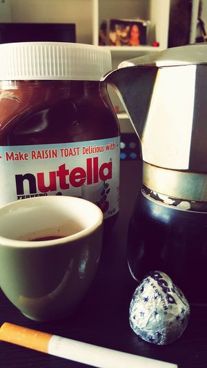 Morning Light Breakfast ♥ Italian Food Home Sweet Home Italianstyle Moka Espresso Coffee Cigarette  Nutella ♥ ImInLove