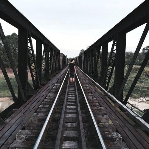 Railway Track Railway Railway Bridge Iron Bridge That's Me Hello World Check This Out