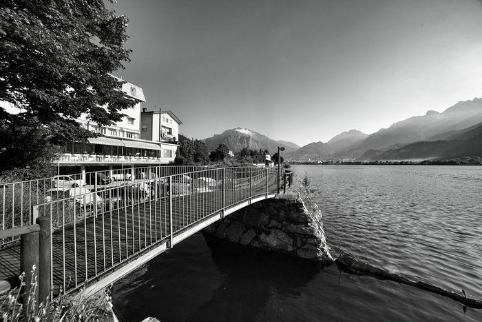 Ponte Bridge Pescate Bn Bnw Lake Lago Lombardia_bnw