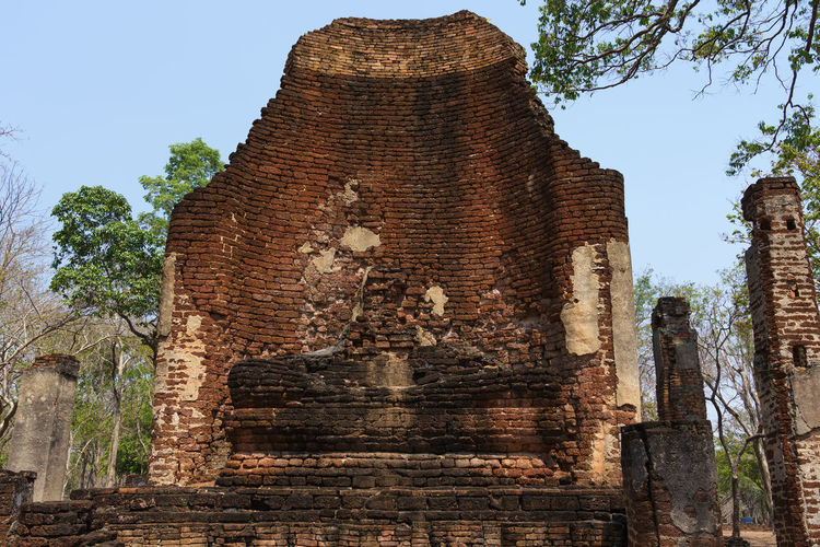 Low angle view of old temple