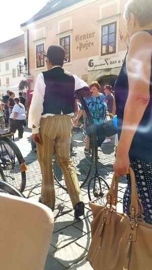 People And Places Spancirfest Varaždin špancir Fest Men Oldschool Bike Lazy Sunday Noon