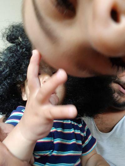 The Portraitist - 2018 EyeEm Awards EyeEm Selects Human Hand Headshot Human Lips Portrait Togetherness Childhood Close-up