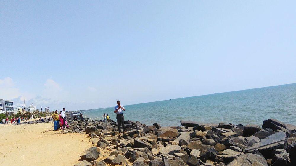 Pondicherrybeach Pondicherrytrip Beauty In Nature Nature Water Sky Sea Beach Love ♥ PhonePhotography