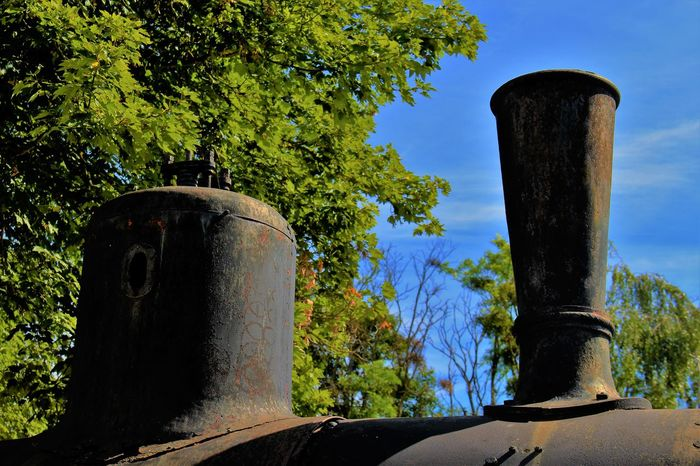 Normandie Normandie, France Abandoned Abandoned Locomotive Blue No People Outdoors Sky Steam Train Transportation Tree
