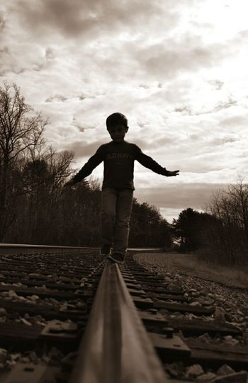 Moving On Down Rairoad Child Rail Transportation One Person Full Length Spring 2017 Full Frame Eyeem This Week EyeEm Best Shots EyeEm Gallery Everything Is Beautiful The Smallest Little Things Godsartwork Happigramma Reflection What Is Beauty Grandson