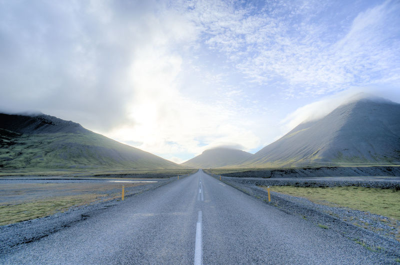 Beauty In Nature Cloud Cloud - Sky Cloudy Country Road Day Diminishing Perspective Empty Empty Road Iceland Iceland Trip Iceland_collection Landscape Mountain Mountain Range Nature No People Road Sky The Secret Life Of Walter Mitty The Way Forward Tranquil Scene Tranquility Vanishing Point Weather