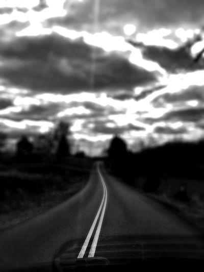 Blackandwhite Sky Taking Photos On The Road