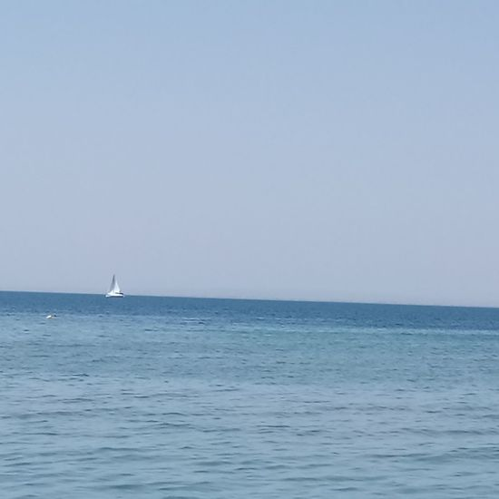 Sea Sailboat Clear Sky