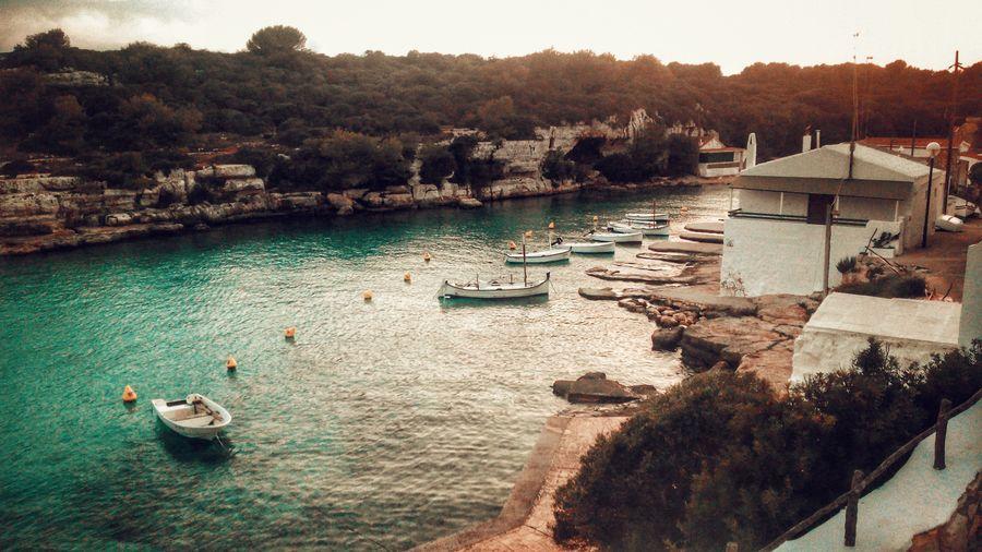 Water Nautical Vessel High Angle View No People Outdoors Nature Smartphonephotography Menorca2016 Alcaufar port