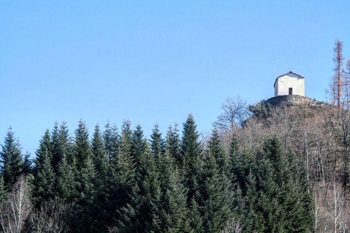 Italian chapel high up in the mountain Clear Sky Tree Blue Sky Architecture Building Exterior Built Structure Eyeem Market EyeEm Gallery Nature Scenics Landscape Historical Building Popular Popular Photos Church Chapel White Building EyeEmBestPics Lifestyles EyeEm Team Trending Photos