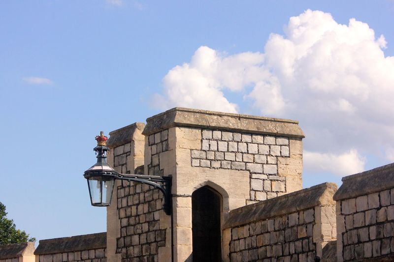 windsor castle lamp detail Architecture Building Building Exterior Built Structure Cloud - Sky Day Fort History Low Angle View Nature No People Old Outdoors Sky Stone Wall Sunlight The Past Travel Wall Wall - Building Feature Windsor Castle