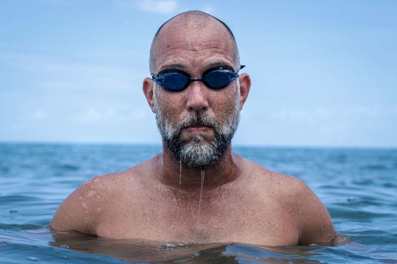 Beard Caribbean Summer Beach Swim Goggles Water Portrait Shirtless Sunglasses One Person Fashion Sea Headshot Men Looking At Camera Outdoors Horizon Over Water Real People The Portraitist - 2018 EyeEm Awards Creative Space Summer Sports Be Brave A New Beginning This Is Natural Beauty