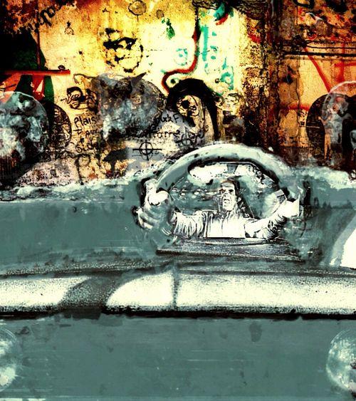 Chrome Variation Shot Car Wall Behind The Wall Driving Human Representation