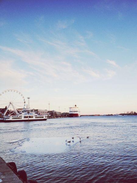 Helsinki Kauppatori Sea View Sunset First Eyeem Photo