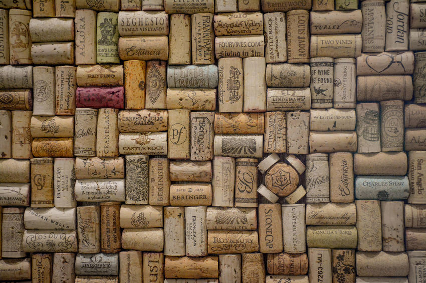 Close-up Full Frame Multi Colored Pattern Powell Gardens Wall Decor Wine Cork Wine Corks
