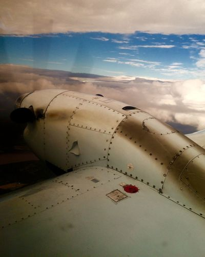 Flying from Halifax to Prince Edward Island. Air Transport Air Travel  Airborne Aircraft Aircraft Wing Airplane Cloud - Sky Flying Propellor Sky Small Airplane Vintage Airplane