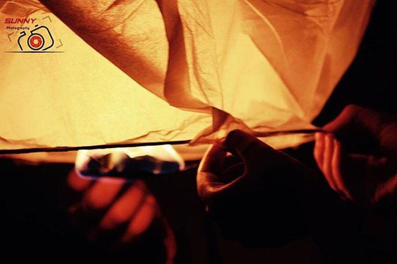 Safe Diwali Sky Lamps Canon Mysore Sunny_Frames