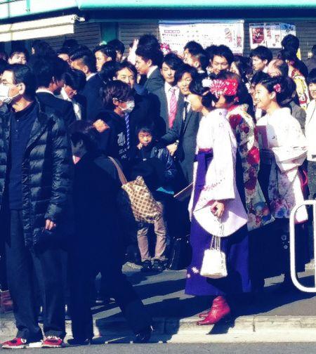 Happy Faces University Graduation post Ceremony 70000 Graduates March 2016 Biggest University in tokyo and in japan Streetphotography Kimonos Hakama Boots for women Tokyospring2016 EyeEm Japan EyeEM Tokyo Eyeem Streetphotography EyeEm Gallery Eyeem Spring
