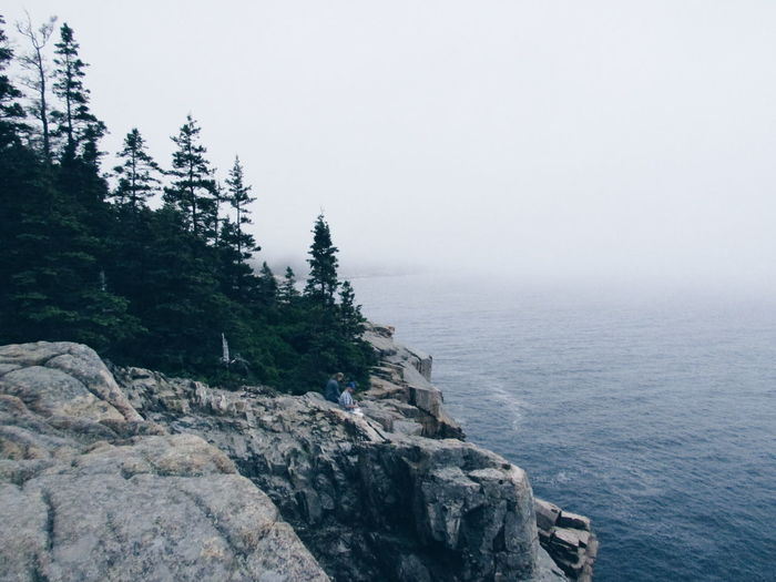 Acadianationalpark Beauty In Nature Cliff Fog Nature Outdoors Sea Seascape Shore Solitude Tranquil Scene Miles Away
