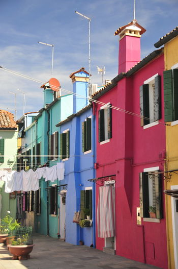 EyeEm Best Shots Houses Häuser Bunt Colored Italy Italien Venedig Venecia Wasser Water Lagoon Lagune Venetian Romantisch Romantic Colorful Sommer Sommerzeit Summer Island Insel Burano Architecture Built Structure No People