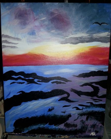 Samsung Galaxy S3 Spruce Grove, Alberta No People Paint Nite My Artwork Painting Tropical Sunset