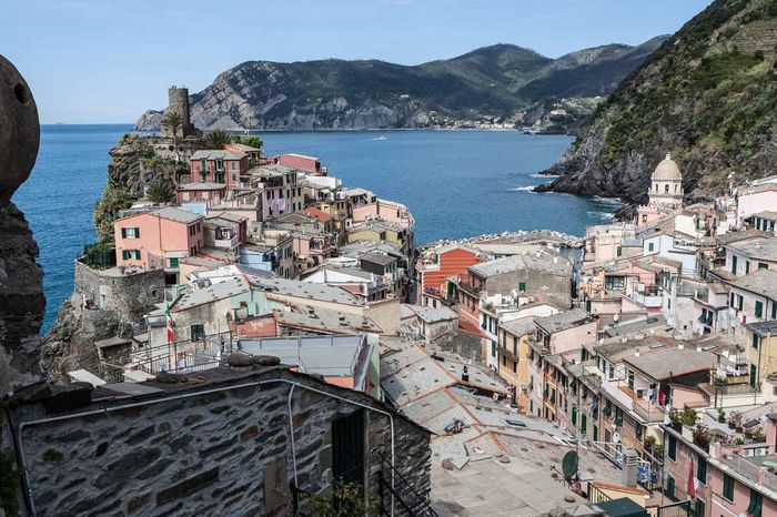 5 Terre Architecture Beauty In Nature Building Exterior Built Structure City Cityscape Crowded Day High Angle View Mediterranean  Mountain Nature Outdoors Residential  Residential Building Scenics Sea Sky Town Travel Destinations Vernazza Water