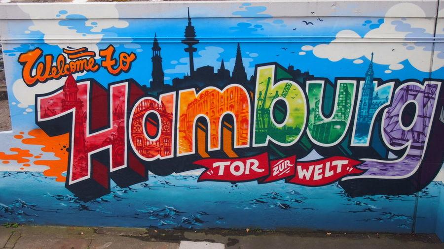 A Blue Communication Day Graffiti Grafitti Hamburg K Miche Multi Colored No People Outdoors Street Art Streetart Streetart/graffiti Telemichel Text Water