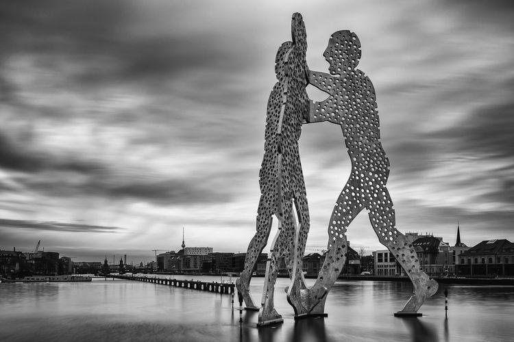 Molecule Man Berlin Spree Black And White Long Exposure