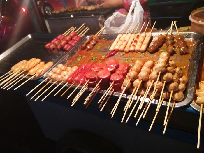 Appetizer Meat Balls Sausage Spicy Sause Thai Food Thai Street Food Thai Style