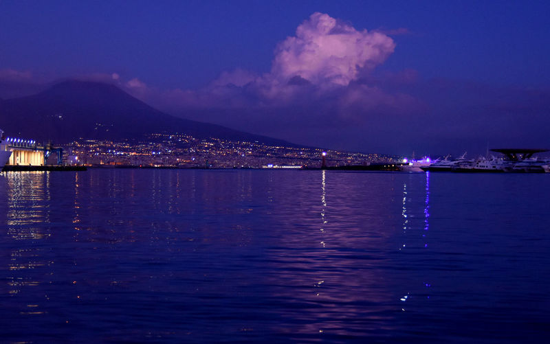Italy Photos Naples Purple Night Vesuvio Vulan Beauty In Nature City Italy Italy❤️ Lightning Nature Night No People Purple Reflection Sea Sky Vesuvius  Vulcano Water Waterfront First Eyeem Photo