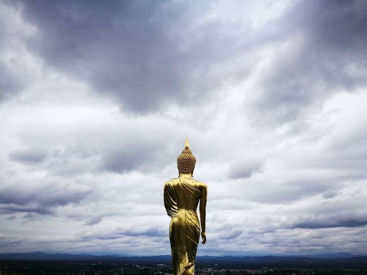 Cloud - Sky Religion Sky Statue Outdoors Spirituality Landscape Scenics No People City Day Cityscape