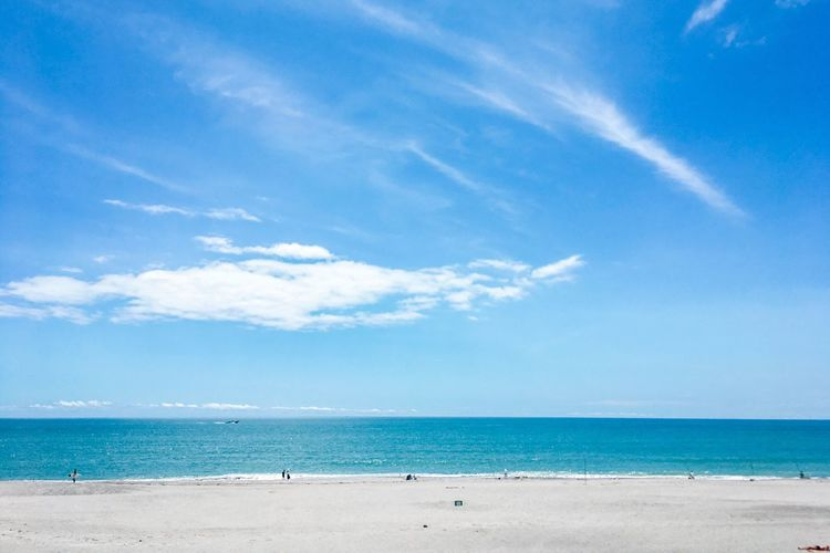 Sea Beach Sky Horizon Over Water Sand Blue Scenics Beauty In Nature Nature Cloud - Sky Water Tranquility Day Tranquil Scene Outdoors Vacations Travel Destinations No People Summer Views Summertime Summer Vacation