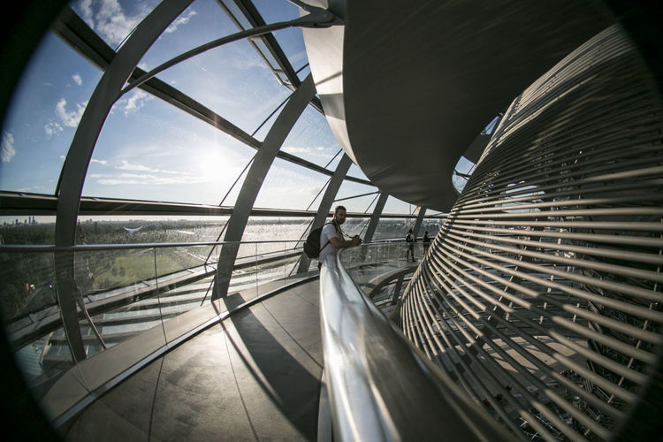 Photography of inside the Reichstag, at the dome #Berlin #Reichstag #arquitecture #building #germany One Person Real People