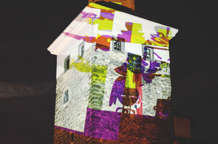 Art Building Colorful Colourful Colours Low Angle View Mapping Mapping Buildi Night No People Outdoors Projecting Video Art Visualisation VJ Vjing