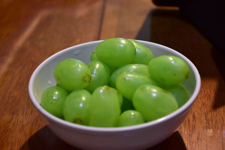 Green grapes in