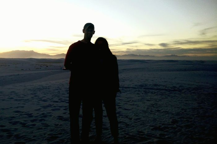 Sunset at White Sands National Monument Park, White Sands sunset withbhusband, sunset picture with montains and white sands