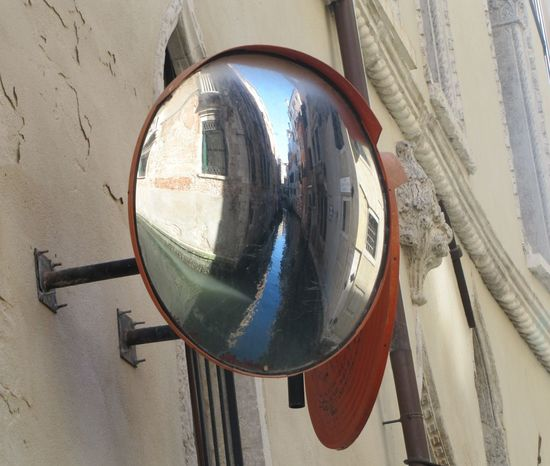 Mirror mirror on the wall Canal Reflection Venezia Mirror Traffic Management Convex Mirror Water And Sky