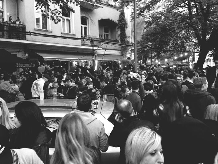 People Watching Party Live Music Open Air