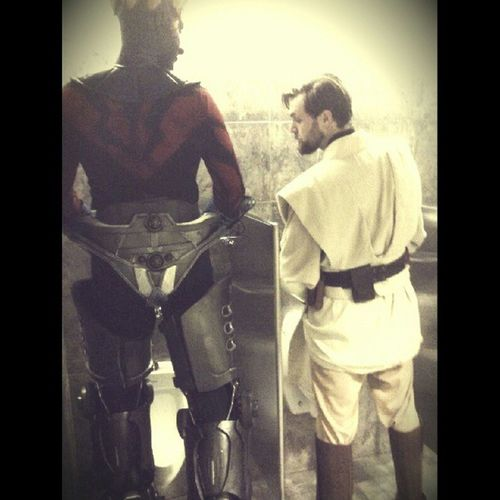 Husband sends the most interesting pics! Starwars Cyborg DarthMaul Obiwant