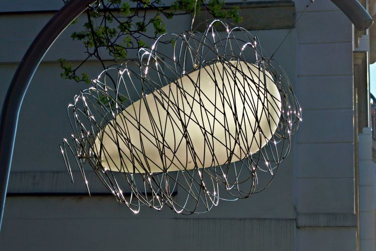 No People Indoors  Shape Pattern Geometric Shape Close-up Hanging Metal Design Lighting Equipment Art And Craft Still Life Decoration Built Structure Architecture Ceiling Egg Shaped
