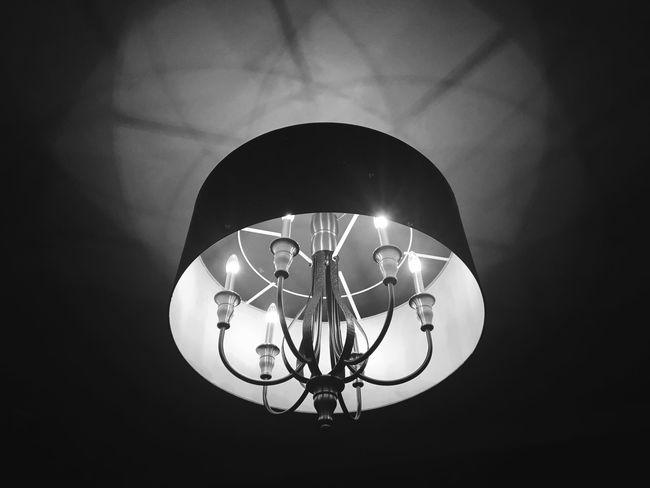 Light Illuminated Electricity  No People Indoors  Close-up Hanging Romantic Blackandwhite Black Background Fixture Home Interior Home Decor Pretty Black And White Friday Black And White Friday