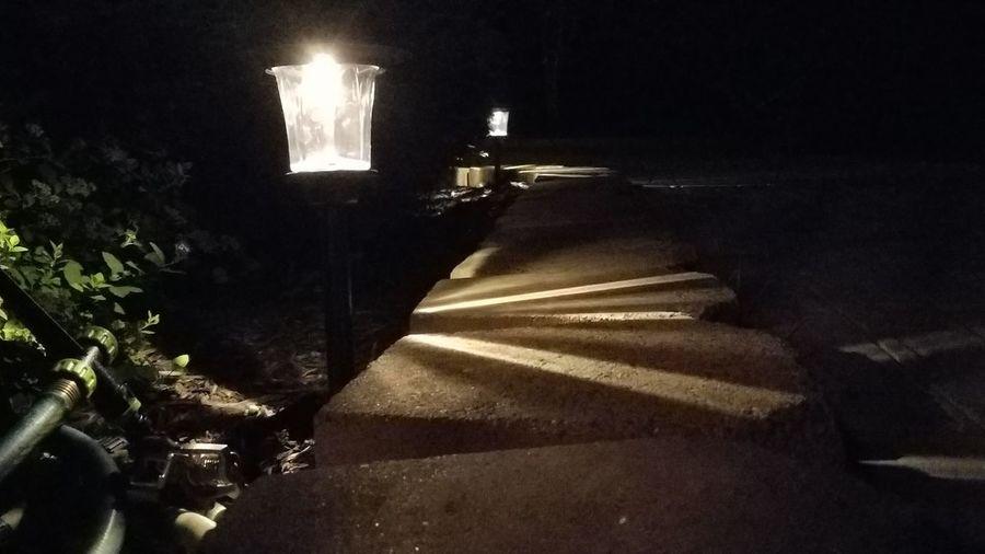 A little light to help get by. Illuminated Night Lit No People Dark Grass Nightlighting