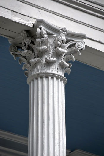 Corinthian Column Porch Architechtural Details Architectural Column Architectural Detail Architecture Building Exterior Column Columns And Pillars Corinthian Columns Greek Architecture No People Ornate White Color