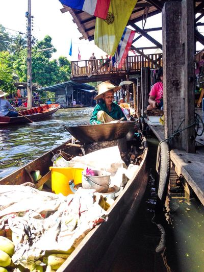 Floating Market Culture Thailand Folkways RePicture Travel My Country In A Photo