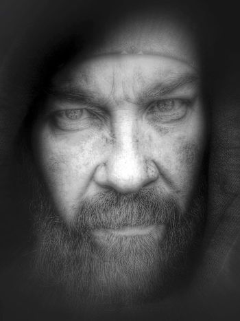 Some days I show the softer side of me with a intense stare. That's Me Baldhead Selfportrait Portraits Eyes Hazel Eyes  Black & White Beards