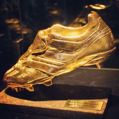 Golden boot Goldenboot Messi FCB Soccer