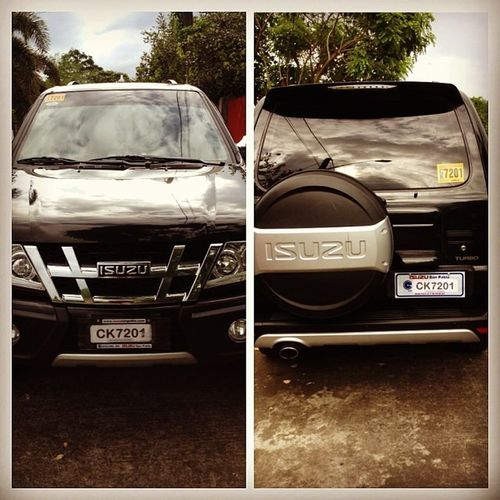 """We've had three cars in the past... And as far as i can remember, we always nickname them all """"pogi"""" for reasons that are still unknown to me. But to be honest, of all those three cars we had before, i can say na eto ung pinaka pogi sa lahat. Isuzu Isuzusportivo Newcar Newcarbitches"""