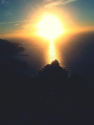 Sunset Sea Silence Winter