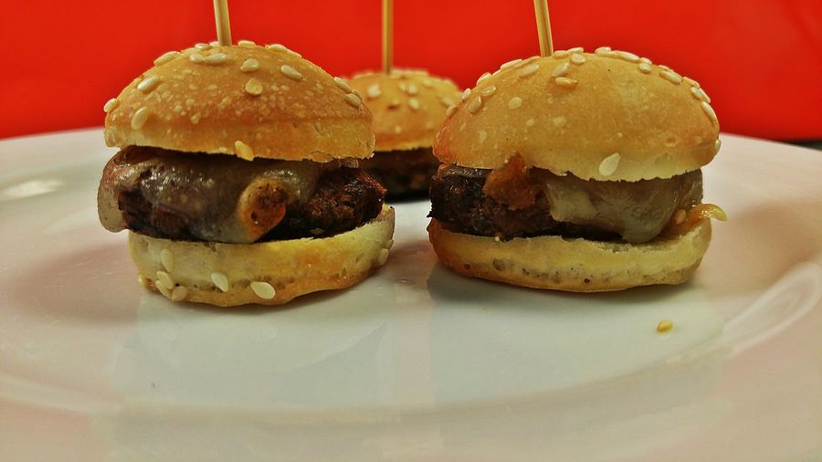 mini burgers entrees Bouchees Seasonal Entrees Christmas Designer Food Premium Collection Getty Images Party Platter Colorful Toothpicks Food And Drink Food No People Indoors  Indulgence Sweet Food Dessert Close-up Ready-to-eat Hamburger