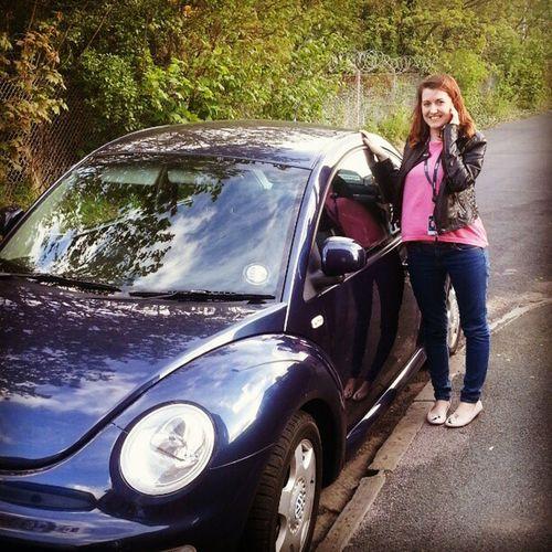 Best ever! Surprise FirstCar Beetle VW Volkswagen Cute Loveit Happy Beepbeep ThankYouMummy Needtopass Bug